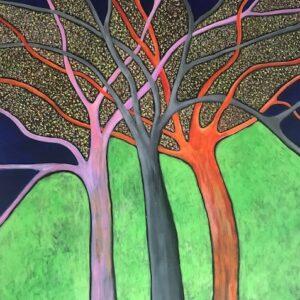 winter trees, art, kerrie bonnel