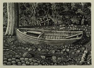 slow boat (study II) 2016 linocut 38x52.5cm