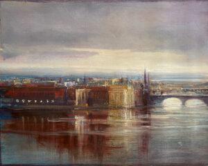 Kleinboonschate, Robert. Prague in the evening. art