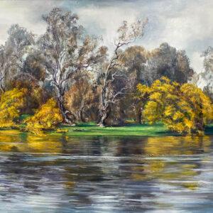 Kleinboonschate, Robert. Riverscape Series IV, art